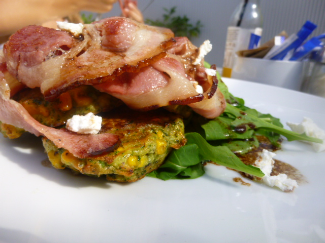 Corn Fritters at The Fridge