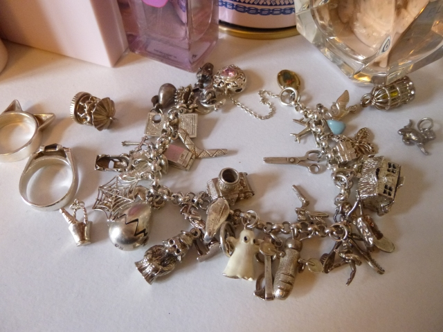 My charm bracelet. It's er... packed!