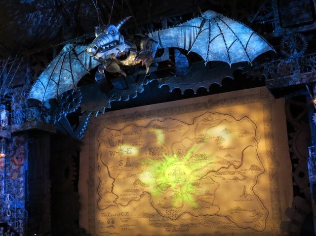 The Civic's proscenium has been transformed for Wicked