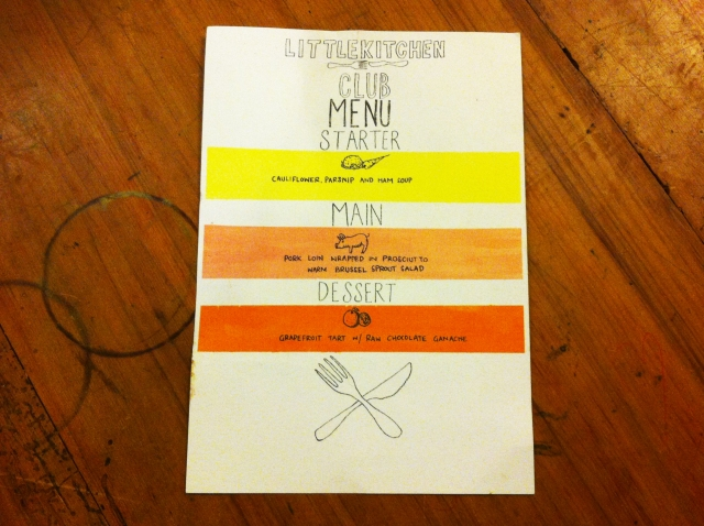 Little Kitchen Club Menu