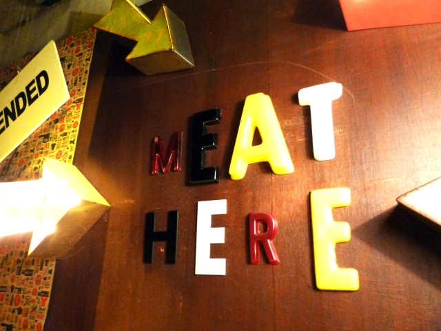 meat grill sign